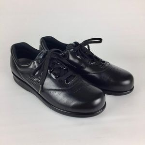 SAS Free Time Black Comfort Walking Shoe 8S Slim